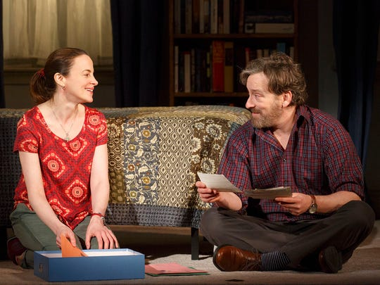 "Maria Dizzia and Jeremy Shamos  in ""If I Forget."""