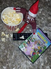 Wendel the elf watches a movie.