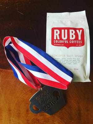 Ruby Coffee Roasters, of Nelsonville, recently won a 2016 Good Food Award for their Ethiopia Guji Uraga coffee.