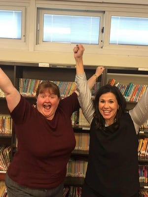Assistant Principal Kathleen Walsh and Chief School Administrator Gina Cinotti shared the great news about Netcong School's 2014-15 PARCC scores.