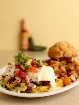The Kalamity Katie's Border Benedict from Wild Eggs, which plans to open in Bellevue.