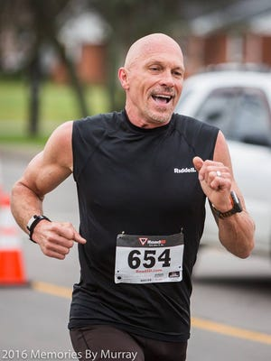 After taking up running five years ago, David Schmanski has become the holder of several Tennessee Senior Olympics records. In this photo he was participating in the Gallatin Shamrock 5K in March.