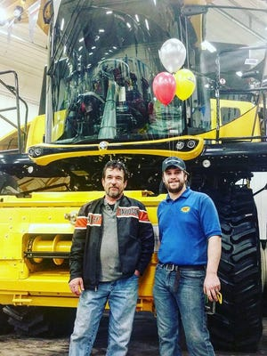 Andrew Kautz, right, is pictured with his dad, Doug Kautz. The younger Kautz died following a crash in Sanilac County Jan. 1.
