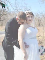 Melanie and Paul at their wedding.
