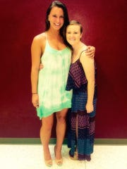 Kate and Colie at the 2015 Elon University athletic