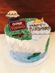 A custom birthday cake made by Katie Lambert, owner
