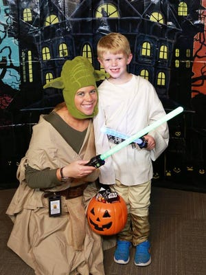 Attendees dressed up as Star Wars characters at a past Spooktacular.