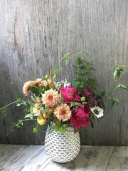 pot and box flowers