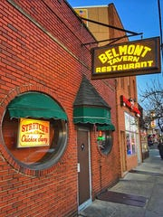 The exterior of the Belmont Tavern.