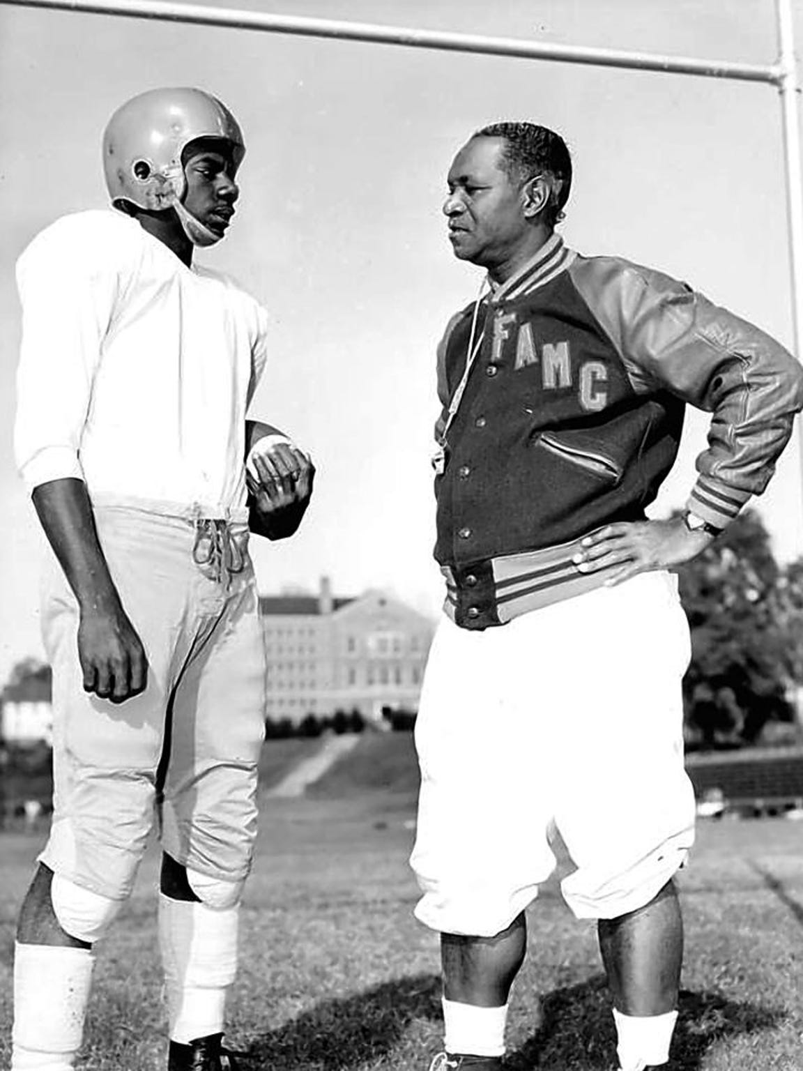 Willie Galimore and Football Coach Jake Gaither.
