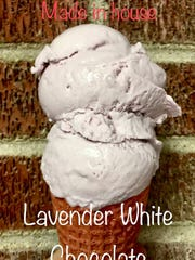 Pink Mama's Ice Cream makes four of its own flavors, including lavender white chocolate.