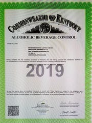 Henderson Brewing Company's license to operate as a