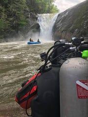 Dive teams have been searching the pool below Elk River