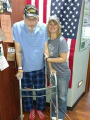 """Michael Welsh with his daughter Kim Johnson before his death last November was """"a very proud"""" veteran, said Jan Carroll, his sister."""
