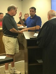 Chris Kerrigan is sworn in on the Ashland City Council