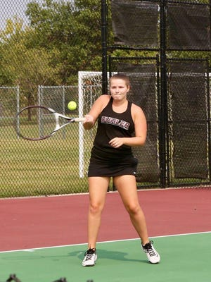 The Buhler High School girls tennis team won its home invitational on Thursday behind two first-place finishes.