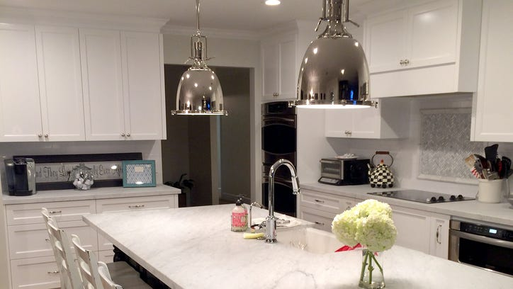 The 'after' image of the kitchen in the Arcadia home of Chris and Tiffany Spiekerman.