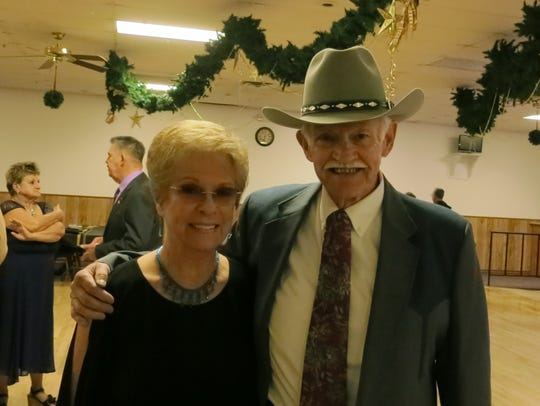 Marian Mackill and Paul Jones, both of Redding, attend