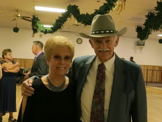 Marian Mackill and Paul Jones, both of Redding, attend the New Year's Eve Celebration Dance on Dec. 31 at the Frontier Senior Center in Anderson.