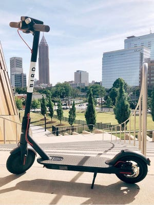 Bird, the electric scooter ride-sharing service, launched in Nashville on May 7, 2018.