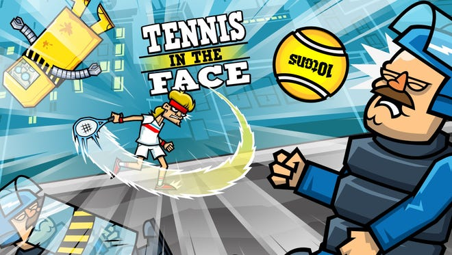 """A scene from """"Tennis in the Face"""""""