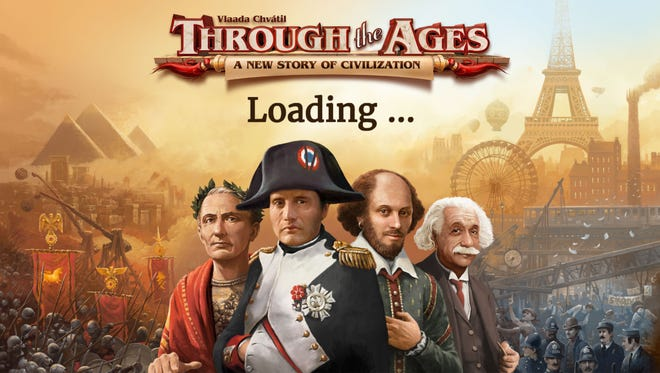 This image shows a scene from 'Through the Ages'