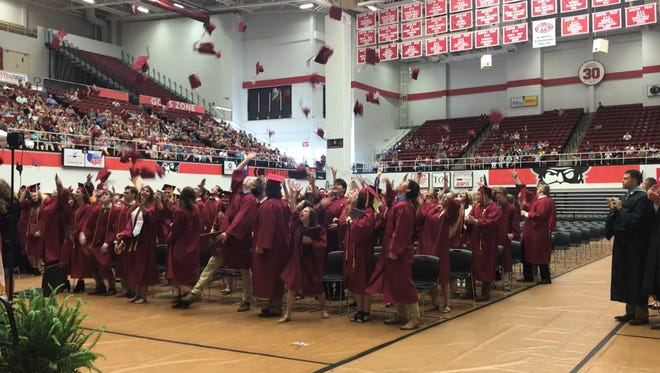 Cheatham County Central High School's Class of 2018 –  about 150 students – graduated in a ceremony held in Austin Peay State University's Winfield Dunn Center on Friday, May 25.