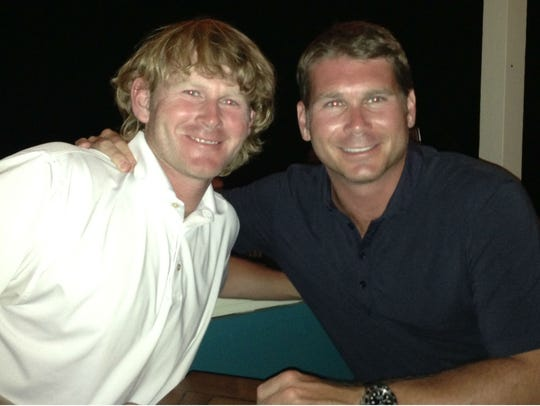 PGA Tour pro Brandt Snedeker, left, and his brother