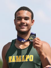 Ramapo's Anthony Harrison finished second in the discus
