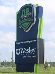 Wesley College is one of two field sponsors at the DE Turf Sports Complex in Frederica. Officials there will focus on sponsorships for the other fields in 2018.