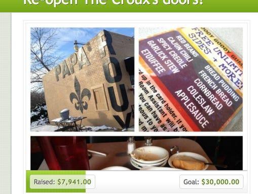 A screenshot of Papa Roux's GoFundMe.com page
