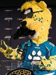 Jaguars mascot Jackson Deville is one of many in Jacksonville