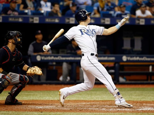 USP MLB: CLEVELAND INDIANS AT TAMPA BAY RAYS S BBA TB CLE USA FL