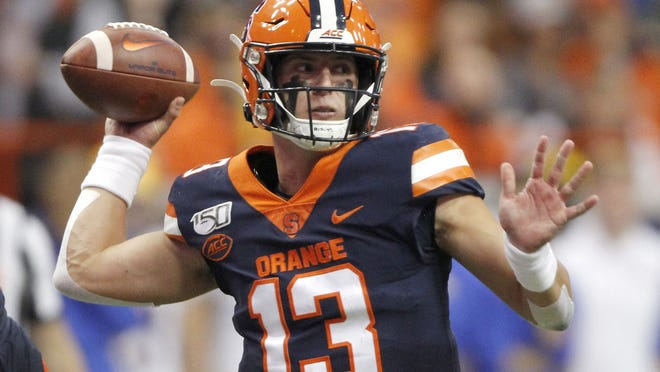 Redshirt junior quarterback Tommy DeVito is back to lead the spread offense at Syracuse and he'll be even more effective if he can avoid sacks behind an offensive line that hopes its injury problems are a thing of the past.