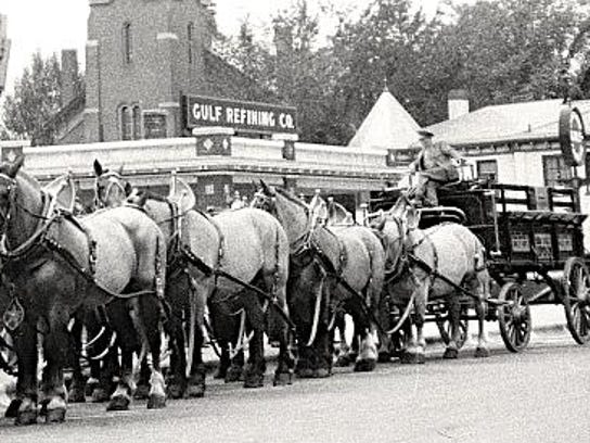 The famous Genesee 12 Horse Team from Genesee Brewing