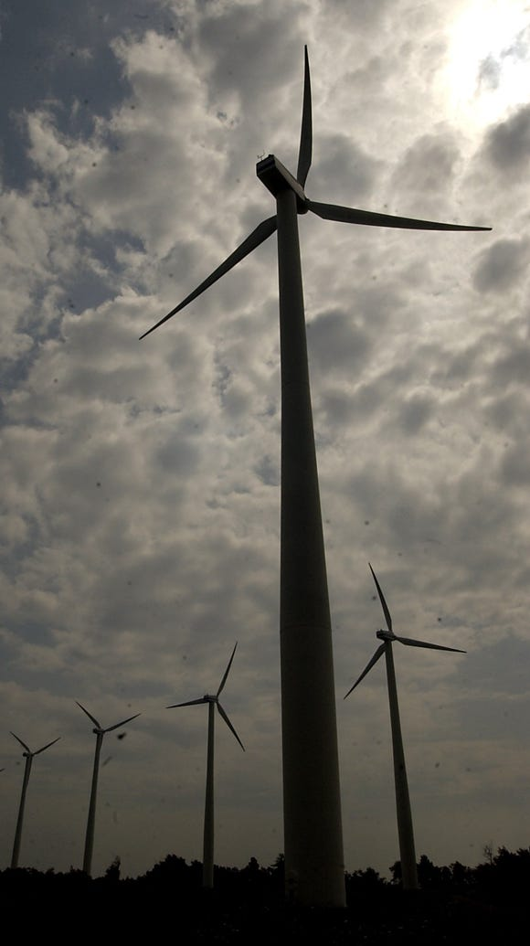 Turbines on a wind Farm in Wethersfield, Wyoming County.