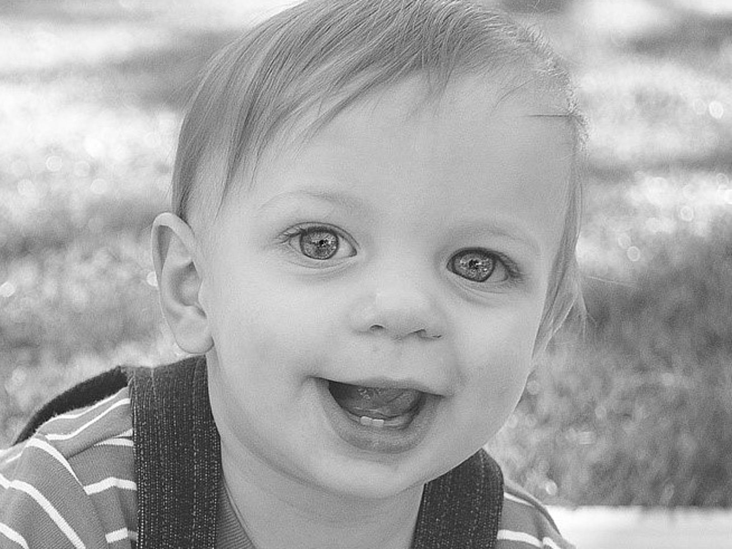 Cameron was a happy, healthy baby.