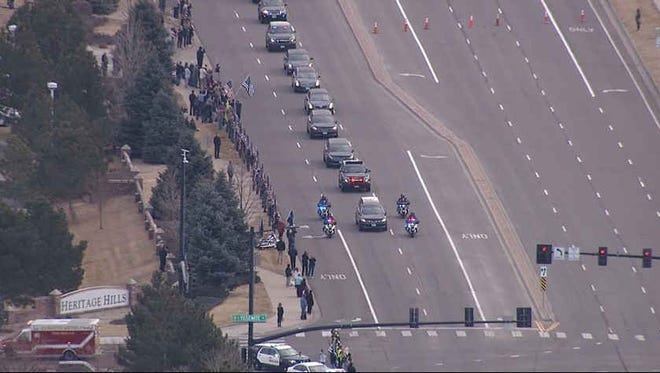 Scenes from the funeral for deputy Zackari Parrish of the Douglas County Sheriff's Office, who was killed on duty earlier this week in a suburban Denver shootout.