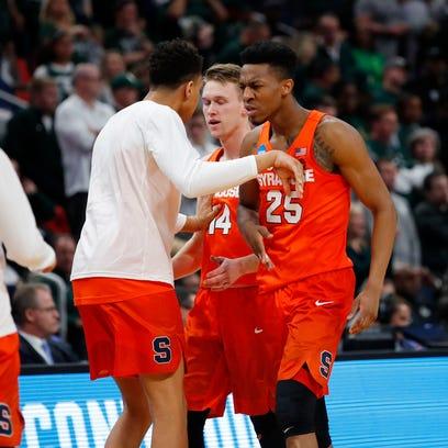 Mar 18, 2018; Detroit, MI, USA;Syracuse Orange guard