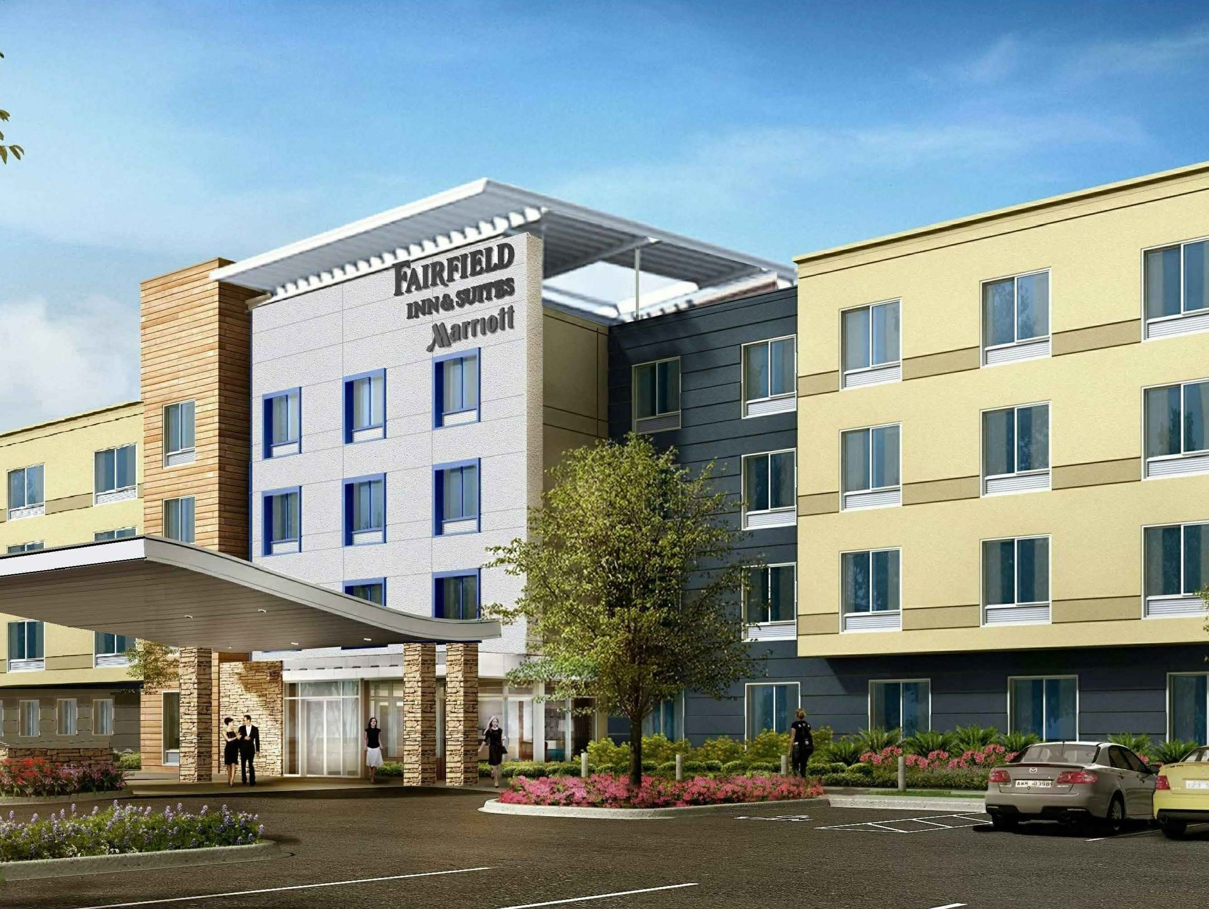 A rendering shows what the Fairfield Inn & Suites in