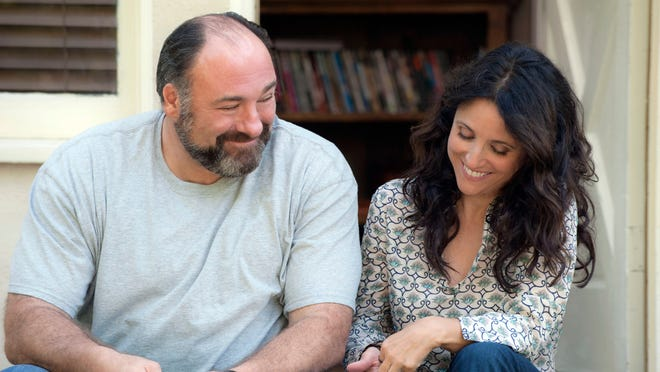 James Gandolfini  and  Julia Louis-Dreyfus play a couple of divorcees starting a new relationship in 'Enough Said,' the final film of Gandolfini's career.