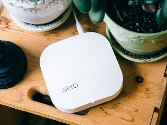 Eero is one of several mesh router systems that people will be setting up this holiday.
