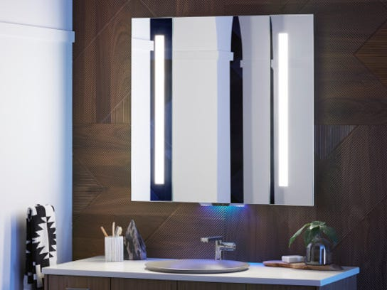 Kohler Verdera Smart Mirror is activated by talking to Amazon's Alexa digital assistant.