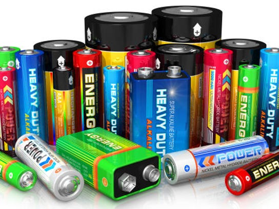 Extra batteries in varying sizes.
