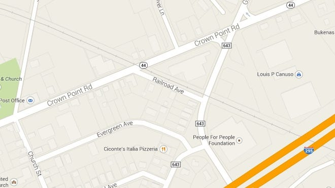 An SUV was struck by a train on Grove Avenue in West Deptford on Sept. 10, 2014.