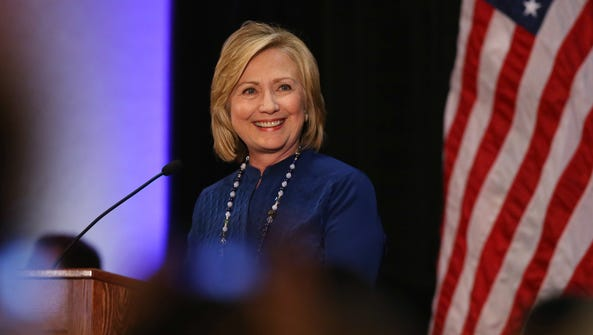 Hillary Clinton leads the field of Democratic presidential