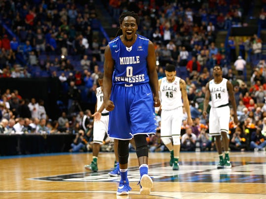Darnell Harris of the Middle Tennessee Blue Raiders