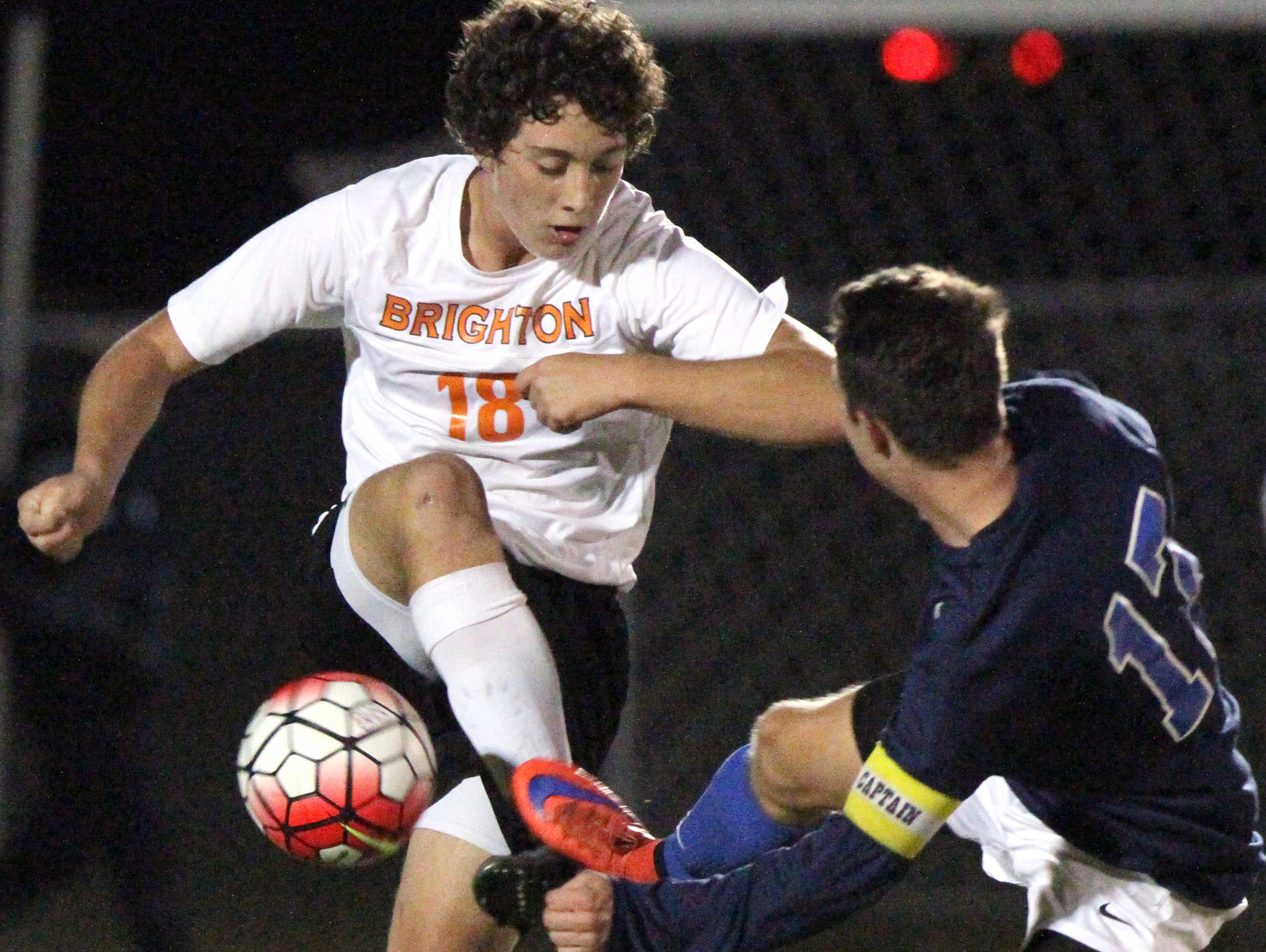 Brighton's Noah Green and his teammates were held scoreless for the third time this season and third this month in a 5-0 loss to Salem on Wednesday.