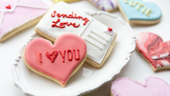 Cut-out cookies from Kittie's Cakes