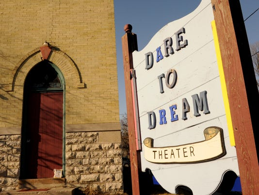 Dare to Dream Theatre sign